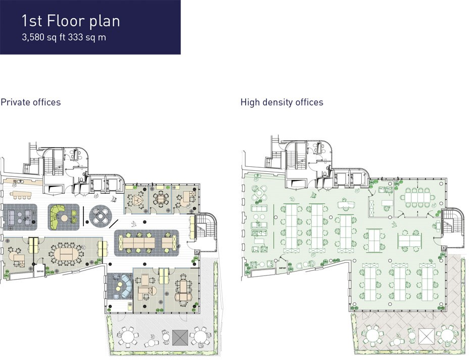 SPACEONE London - Floor Plan 1st Floor