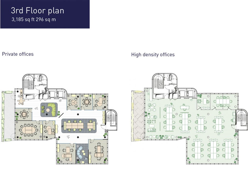 SPACEONE London - Floor Plan 3rd Floor